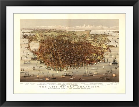 Framed San Francisco Map Print