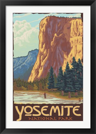 Framed Yosemite National Park Scene I Print