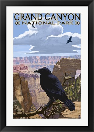 Framed Grand Canyon National Park (crow) Print