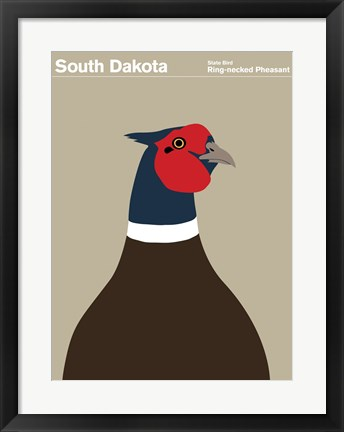 Framed Montague State Posters - South Dakota Print