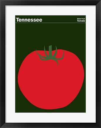 Framed Montague State Posters - Tennessee Print