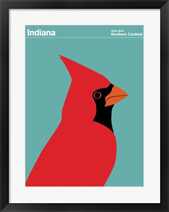 Framed Montague State Posters - Indiana Print
