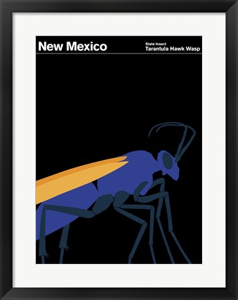 Framed Montague State Posters - New Mexico Print