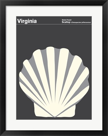 Framed Montague State Posters - Virginia Print