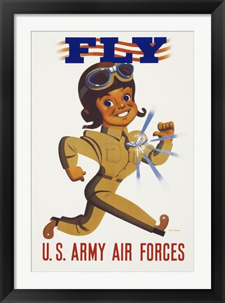 Framed Fly - U.S. Army Air Forces Print