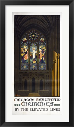 Framed Chicago's Beautiful Churches Print