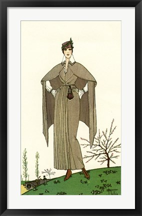 Framed Costumes Parisiens of 1914, Women's Fashion Print