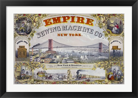 Framed Empire Sewing Machine Co. Print