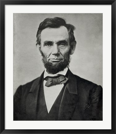 Framed Abraham Lincoln, Head and Shoulders Print