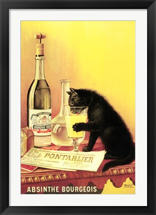 Framed Absinthe Bourgeois Print