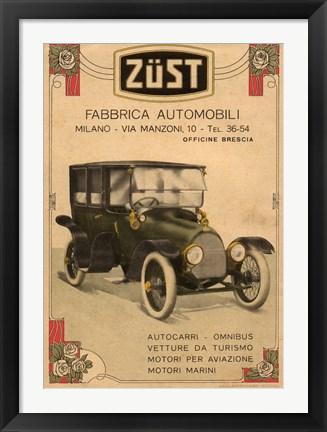 Framed Zust Automobile Print