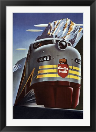 Framed Canadian Pacific Train Print