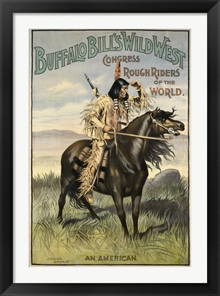 Framed Buffalo Bills Wild West VI Print