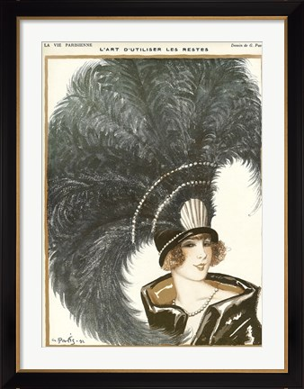 Framed Lavie Parisienne Featherhat Print