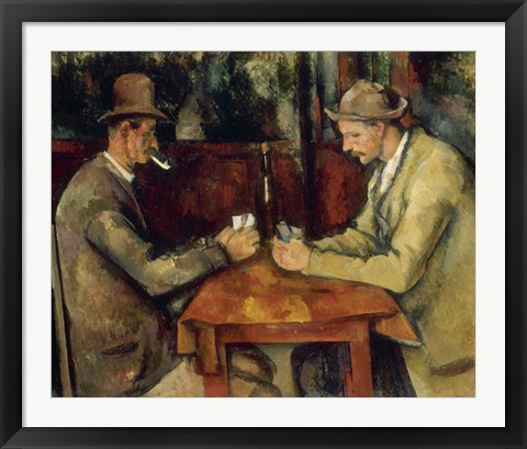 Framed Card Players Print