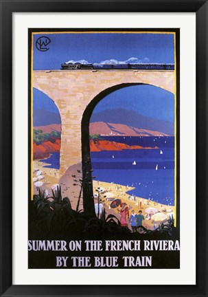 Framed French Riviera Print