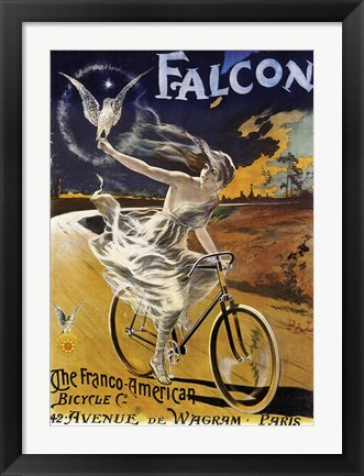 Framed Falcon Bicycle Print