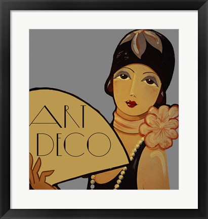Framed Art Deco Flapper Print
