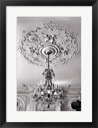 Framed Ornate Ceiling Engraving Print