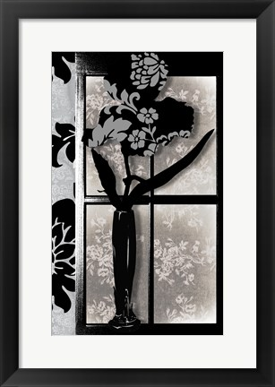 Framed Asian Iris in Window Print