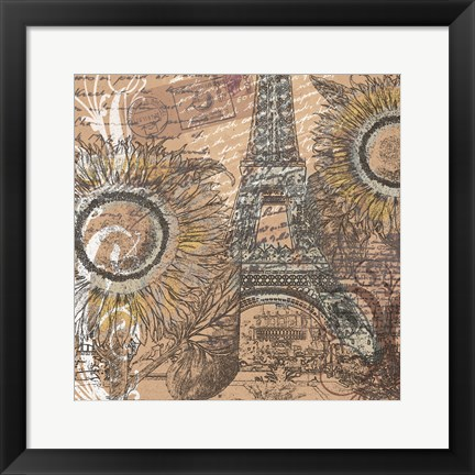 Framed Paris Pastiche I Print