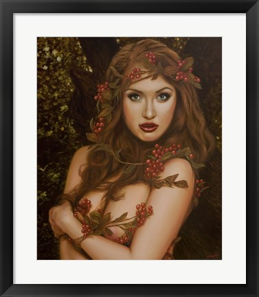 Framed Red Berries Print