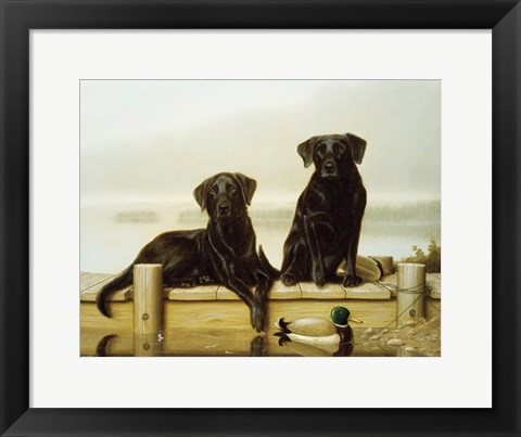 Framed On the Jetty Print
