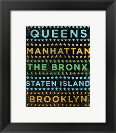 Framed Boroughs 1 Print