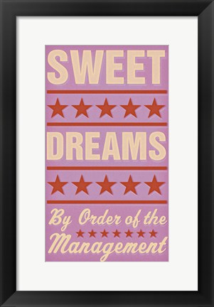 Framed Sweet Dreams - Girl Print
