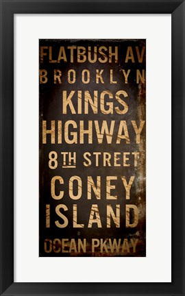 Framed Brooklyn 1 Print