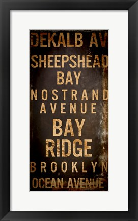 Framed Brooklyn 2 Print
