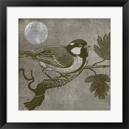 Framed Moon Bird Print