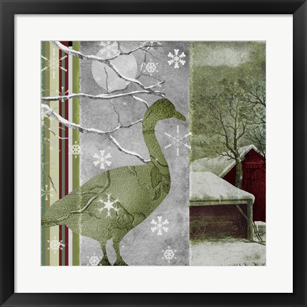 Framed Country Christmas Duck Print