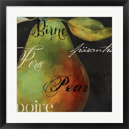 Framed Painted Pear I Print
