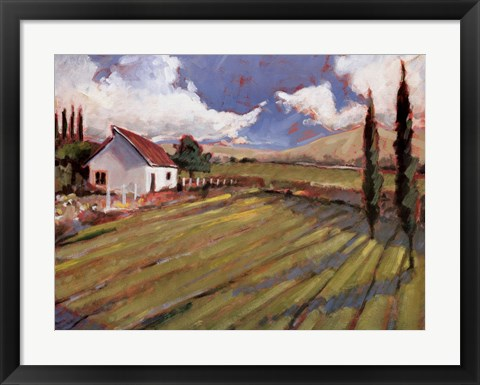 Framed Pastoral Fields II Print