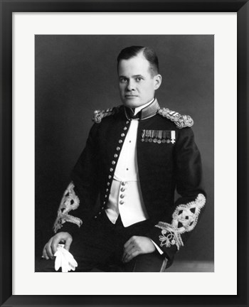 Framed Lewis Chesty Puller Print