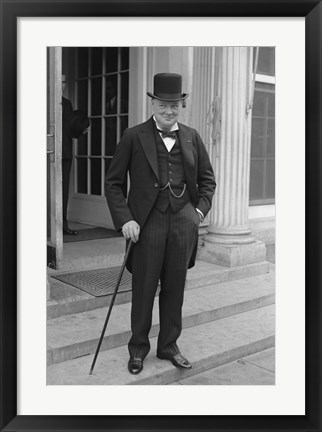 Framed Winston Churchill Print