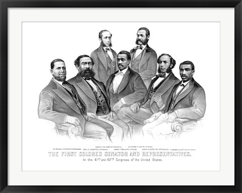 Framed First African American Senator and Representatives Print