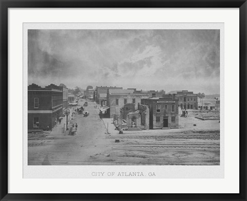 Framed Atlanta, Georgia 1863 Print