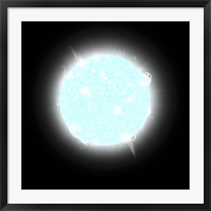 Framed Blue Dwarf Star Print