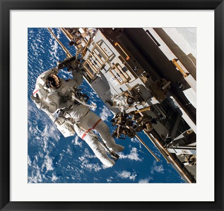 Framed Astronaut in Activity Print