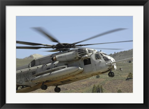 Framed CH-53 Super Stallion Print