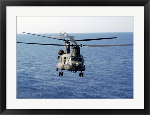 Framed US Army MH-47 Chinook Print