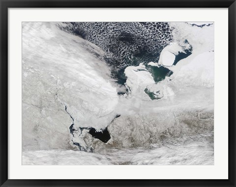 Framed White Sea, Russia Print
