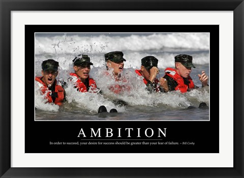 Framed Ambition: Inspirational Quote and Motivational Poster Print