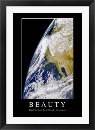 Framed Beauty: Inspirational Quote and Motivational Poster Print