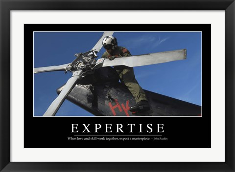 Framed Expertise: Inspirational Quote and Motivational Poster Print
