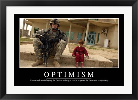 Framed Optimism: Inspirational Quote and Motivational Poster Print