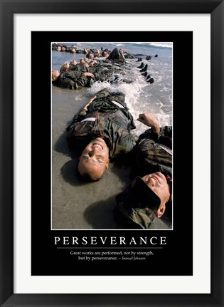 Framed Perseverance: Inspirational Quote and Motivational Poster Print