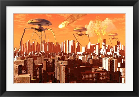Framed War of the Worlds Print